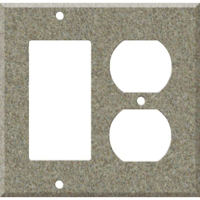Corian Matterhorn Decora GFCI Rocker / Duplex Outlet Combination Wall Plate