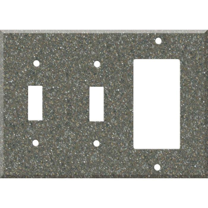 Corian Maui Double 2 Toggle / 1 GFCI Rocker Combo Switchplates