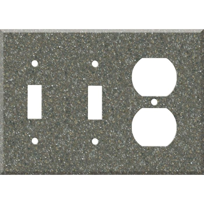 Corian Maui Double 2 Toggle / Outlet Combination Wall Plates