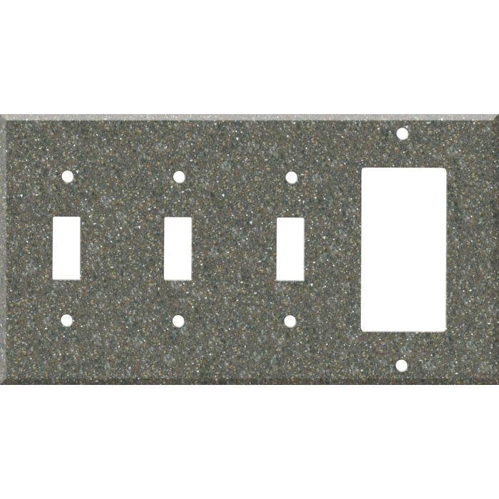 Corian Maui Triple 3 Toggle / 1 Rocker GFCI Switch Covers