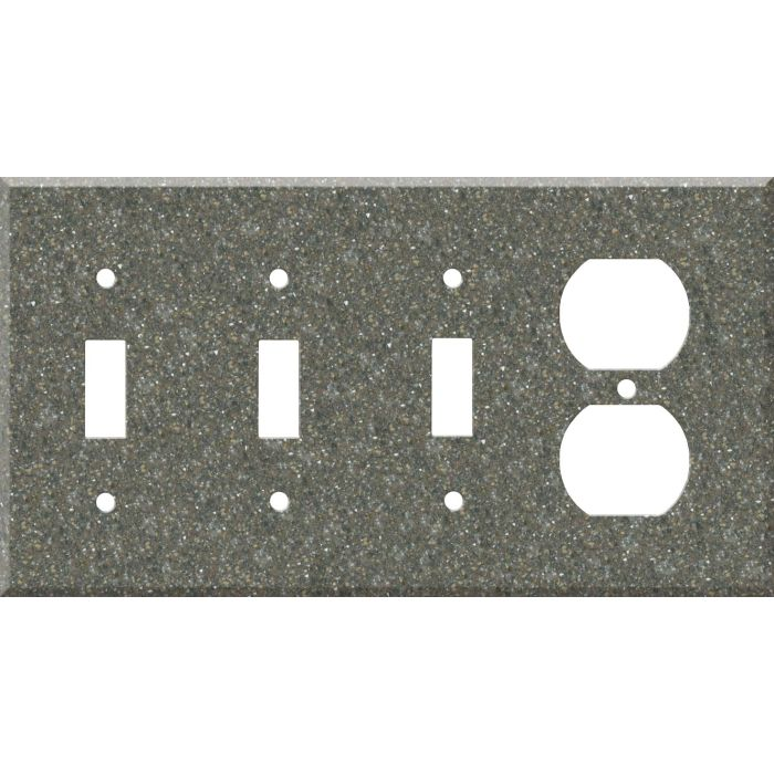 Corian Maui Combination Triple 3 Toggle / Outlet Wall Plate Covers