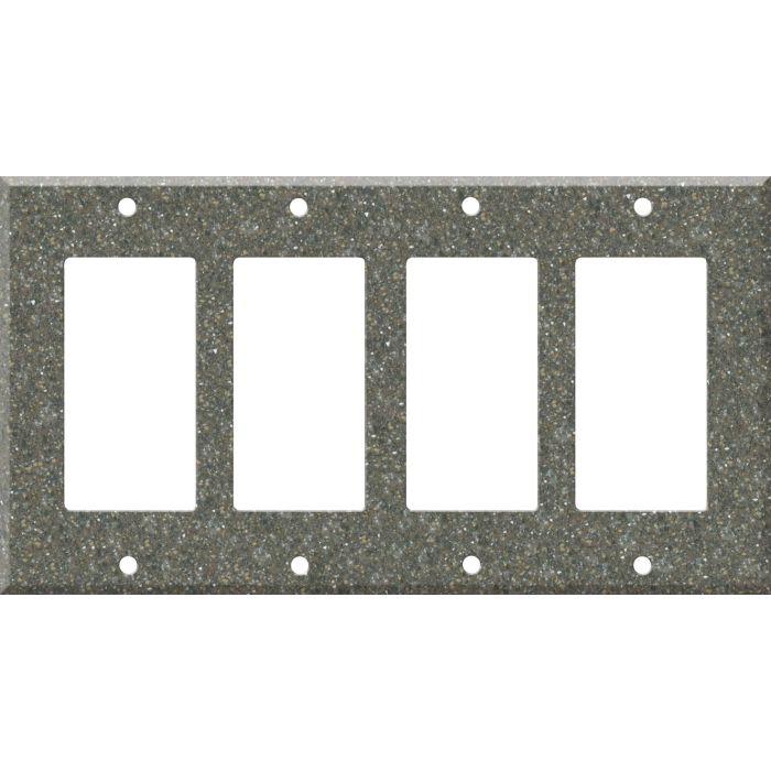 Corian Maui 4 Rocker GFCI Decorator Switch Plates
