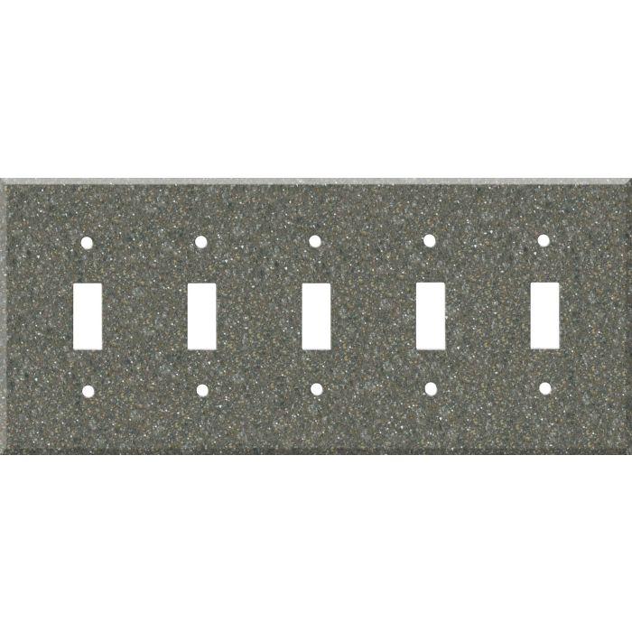 Corian Maui 5 Toggle Wall Switch Plates