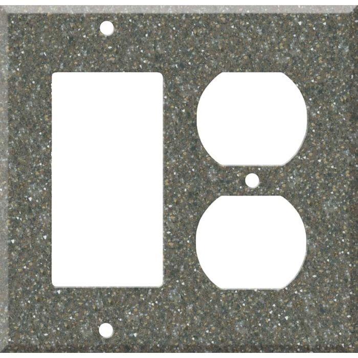 Corian Maui Combination GFCI Rocker / Duplex Outlet Wall Plates