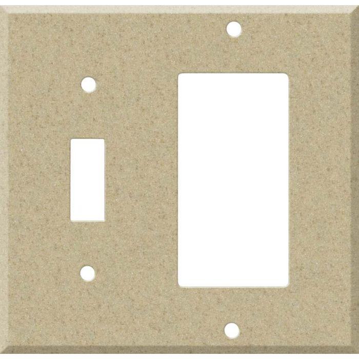 Corian Mojave Combination 1 Toggle / Rocker GFCI Switch Covers