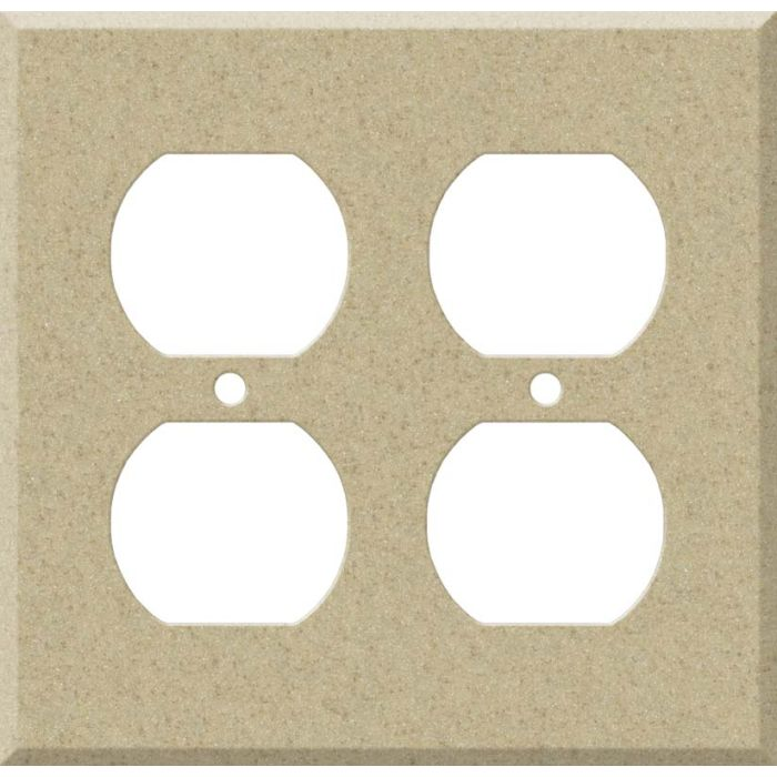 Corian Mojave 2 Gang Duplex Outlet Wall Plate Cover
