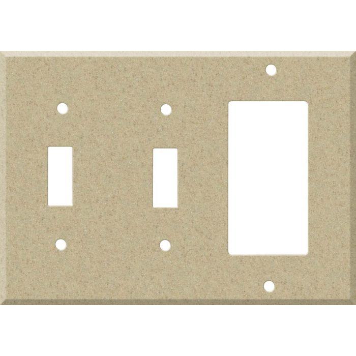 Corian Mojave Double 2 Toggle / 1 GFCI Rocker Combo Switchplates