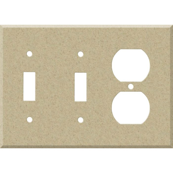 Corian Mojave Double 2 Toggle / Outlet Combination Wall Plates