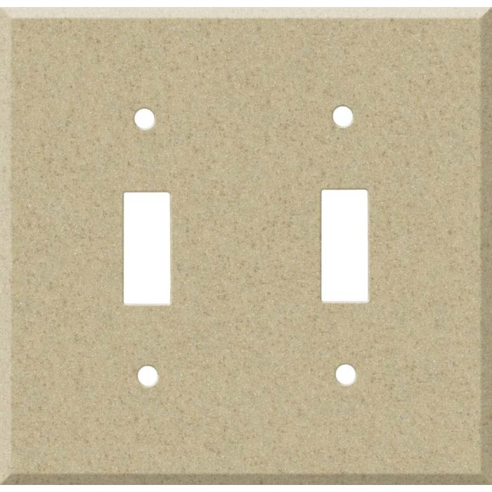 Corian Mojave Double 2 Toggle Switch Plate Covers