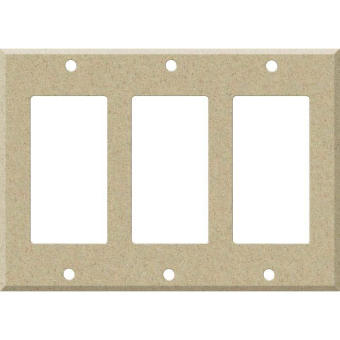 Corian Mojave Triple 3 Rocker GFCI Decora Light Switch Covers