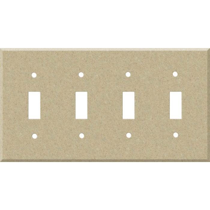 Corian Mojave Quad 4 Toggle Light Switch Covers