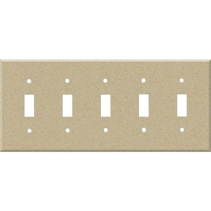Corian Mojave 5 Toggle Wall Switch Plates