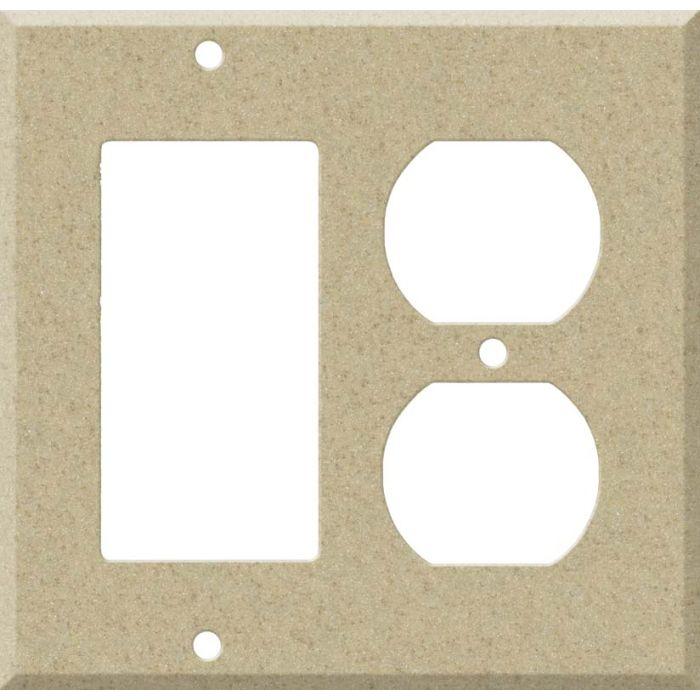 Corian Mojave Combination GFCI Rocker / Duplex Outlet Wall Plates