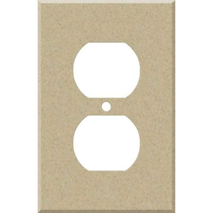 Corian Mojave 1 Gang Duplex Outlet Cover Wall Plate
