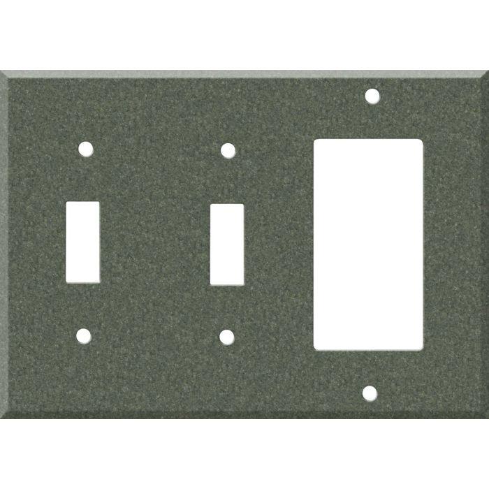 Corian Moss Double 2 Toggle / 1 GFCI Rocker Combo Switchplates