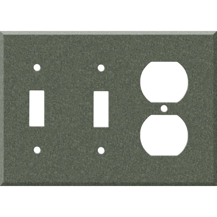 Corian Moss Double 2 Toggle / Outlet Combination Wall Plates