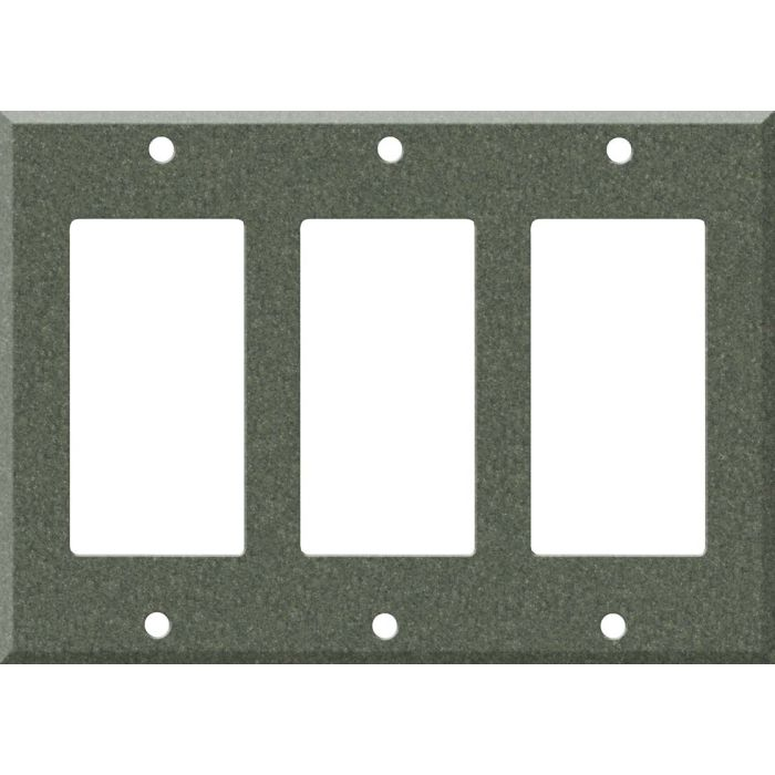 Corian Moss Triple 3 Rocker GFCI Decora Light Switch Covers