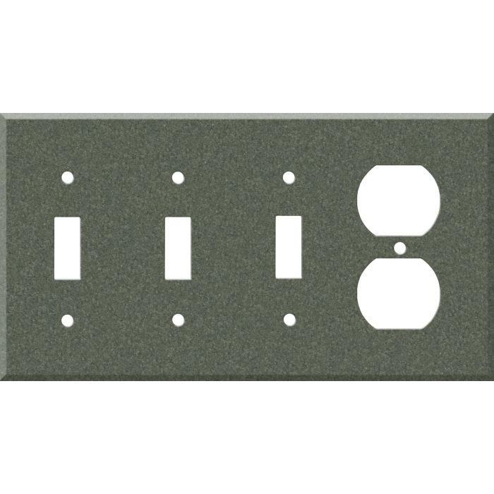 Corian Moss Combination Triple 3 Toggle / Outlet Wall Plate Covers