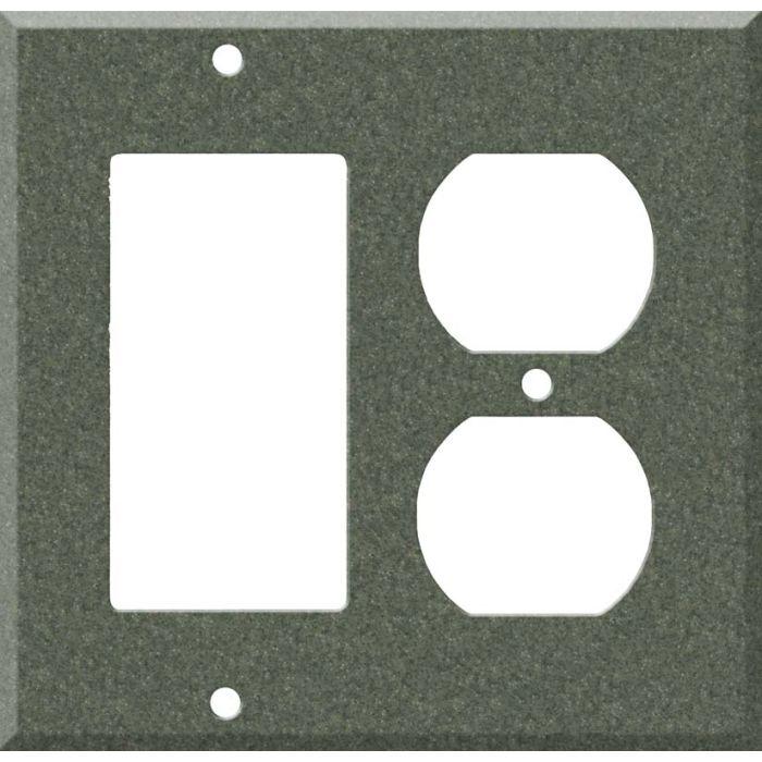 Corian Moss Combination GFCI Rocker / Duplex Outlet Wall Plates