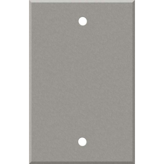 Corian Natural Gray Blank Wall Plate Cover