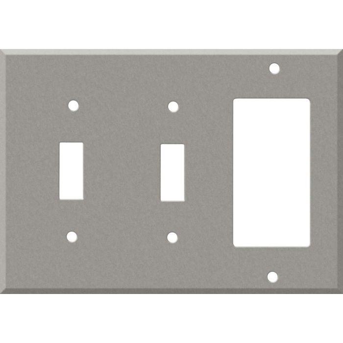 Corian Natural Gray Double 2 Toggle / 1 GFCI Rocker Combo Switchplates