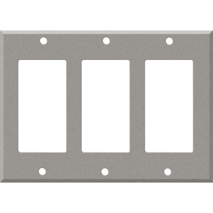 Corian Natural Gray Triple 3 Rocker GFCI Decora Light Switch Covers