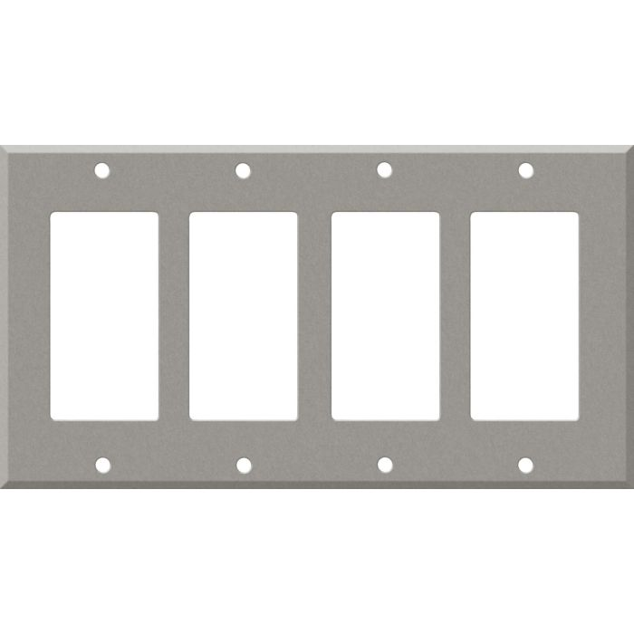 Corian Natural Gray 4 Rocker GFCI Decorator Switch Plates