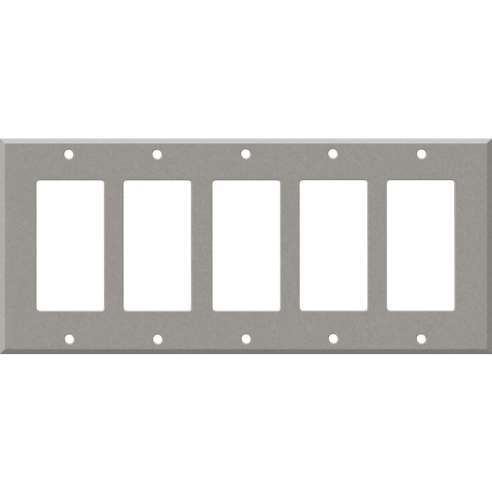 Corian Natural Gray 5 GFCI Rocker Decora Switch Covers