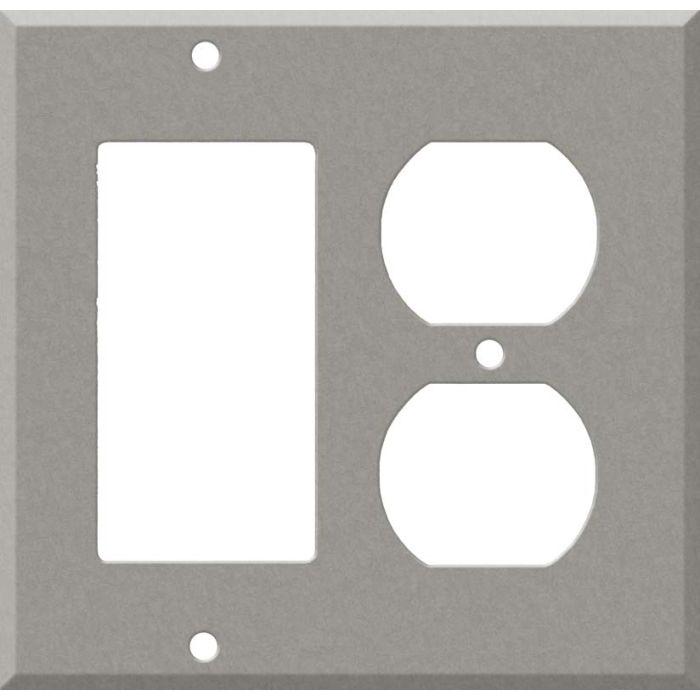 Corian Natural Gray Combination GFCI Rocker / Duplex Outlet Wall Plates