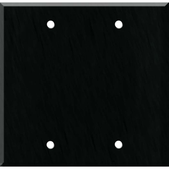 Corian Deep Nocturne Double Blank Wallplate Covers