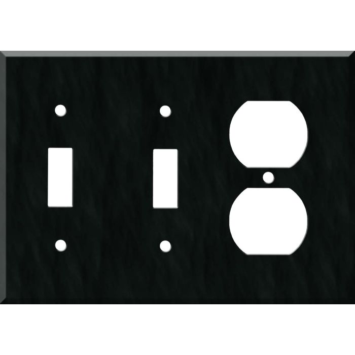 Corian Deep Nocturne Double 2 Toggle / Outlet Combination Wall Plates