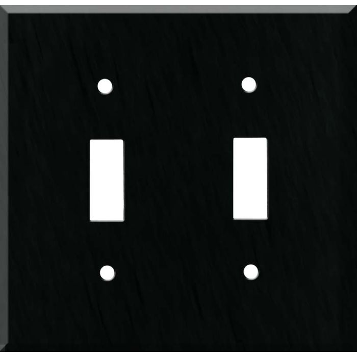 Corian Deep Nocturne Double 2 Toggle Switch Plate Covers