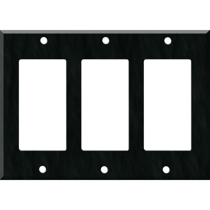 Corian Deep Nocturne Triple 3 Rocker GFCI Decora Light Switch Covers