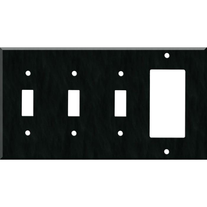 Corian Deep Nocturne Triple 3 Toggle / 1 Rocker GFCI Switch Covers