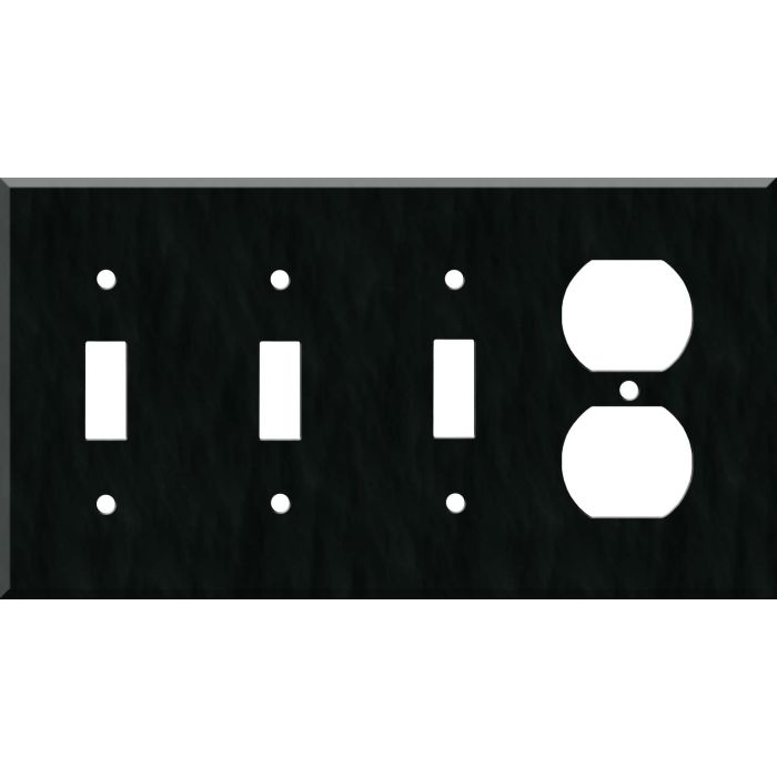 Corian Deep Nocturne Combination Triple 3 Toggle / Outlet Wall Plate Covers