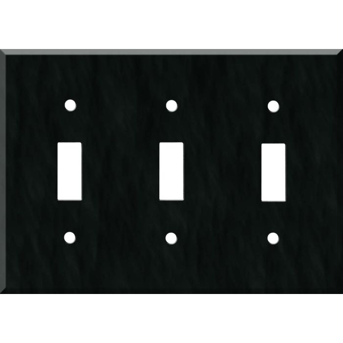 Corian Deep Nocturne Triple 3 Toggle Light Switch Covers