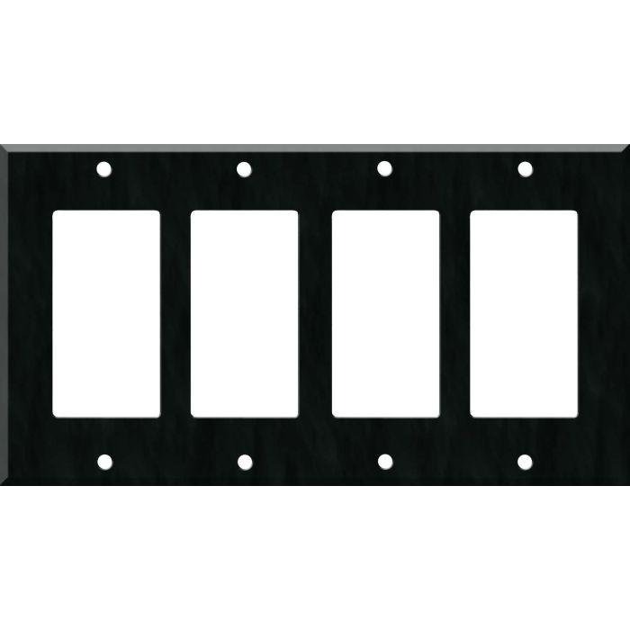 Corian Deep Nocturne 4 Rocker GFCI Decorator Switch Plates