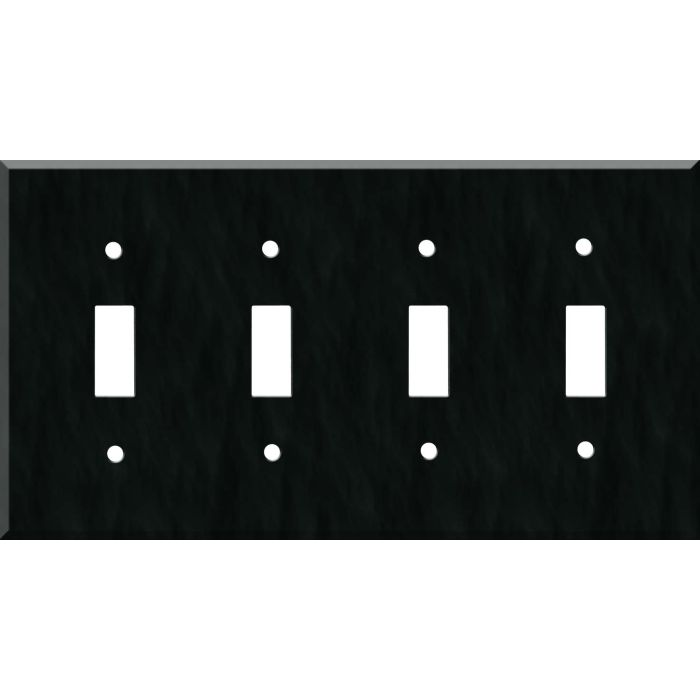 Corian Deep Nocturne Quad 4 Toggle Light Switch Covers