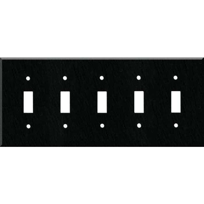 Corian Deep Nocturne 5 Toggle Wall Switch Plates