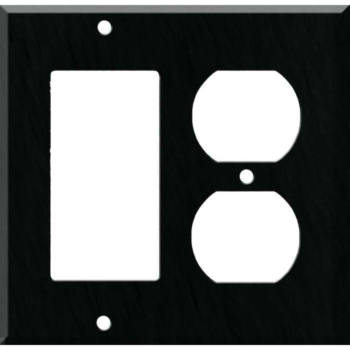 Corian Deep Nocturne Combination GFCI Rocker / Duplex Outlet Wall Plates