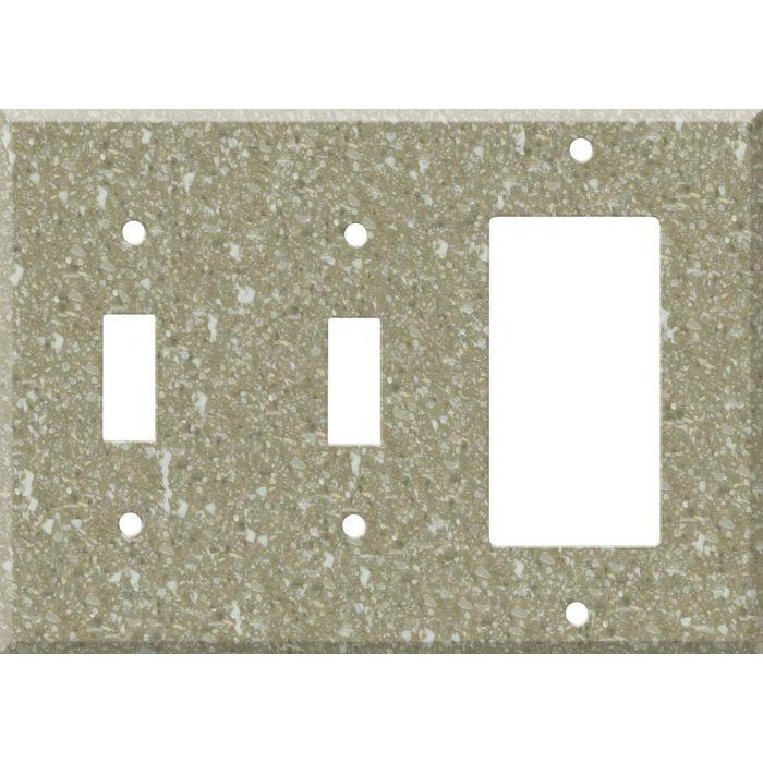 Corian Oat 2-Toggle / 1-GFI Rocker - Combo Switch Covers
