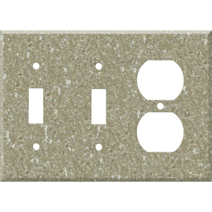 Corian Oat Double 2 Toggle / Outlet Combination Wall Plates