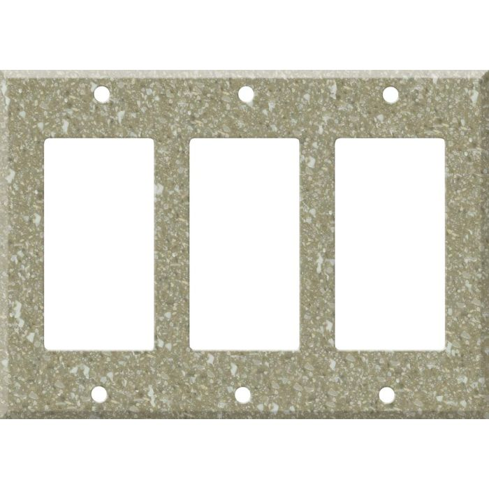 Corian Oat 3 - Rocker / GFCI Decora Switch Plate Cover