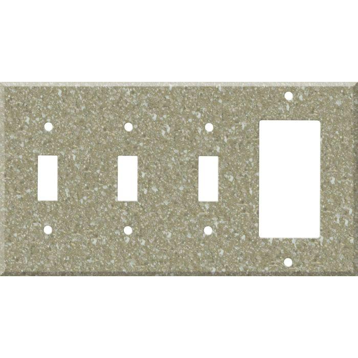 Corian Oat 3-Toggle / 1-Decorator / Rocker - Combination Wall Plates