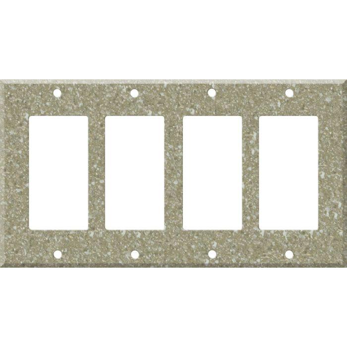 Corian Oat 4 Rocker GFCI Decorator Switch Plates