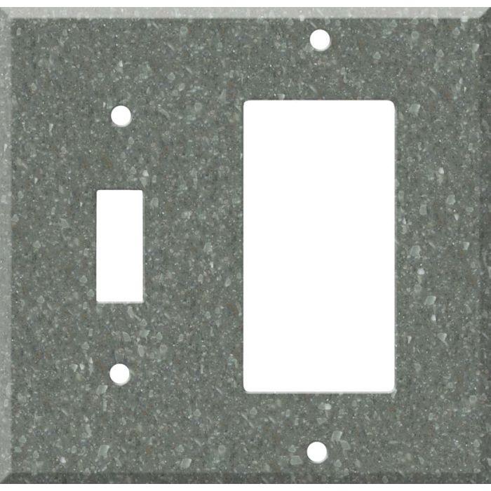 Corian Pine Combination 1 Toggle / Rocker GFCI Switch Covers