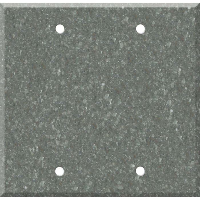 Corian Pine Double Blank Wallplate Covers