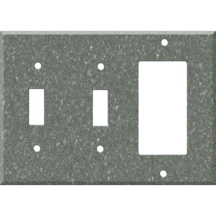 Corian Pine Double 2 Toggle / 1 GFCI Rocker Combo Switchplates
