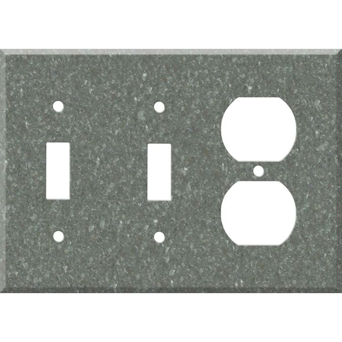 Corian Pine Double 2 Toggle / Outlet Combination Wall Plates