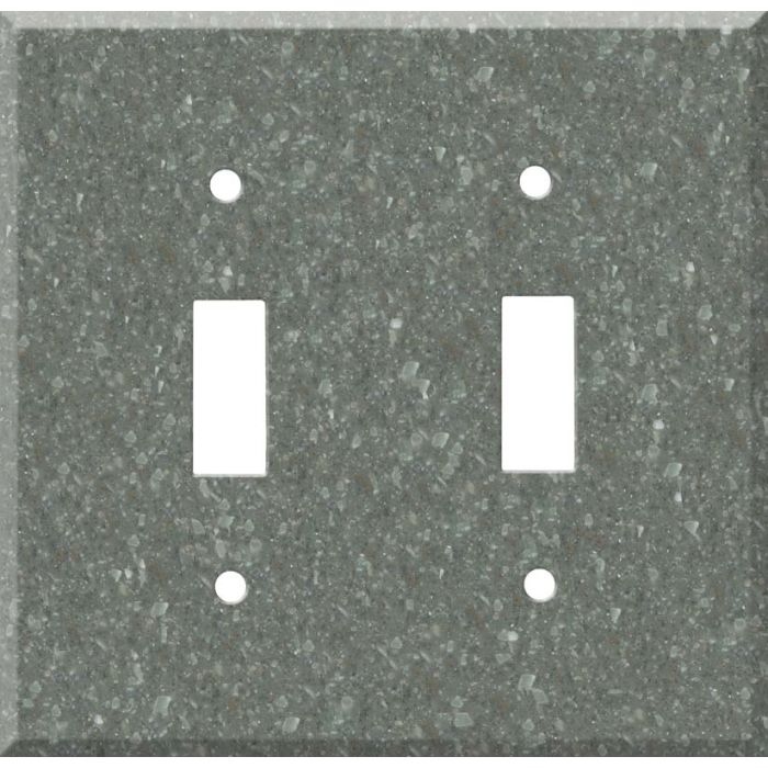 Corian Pine Double 2 Toggle Switch Plate Covers